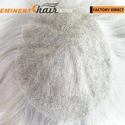 fait sur mesure les cheveux gris des hommes de la Dentelle Toupee