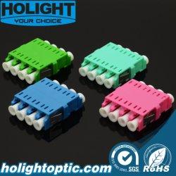 LC - LC Quad Adaptador de fibra de montaje en panel sin brida