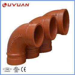 Accessorio per tubi Grooved del ferro duttile un gomito da 90 gradi (raggio lungo)