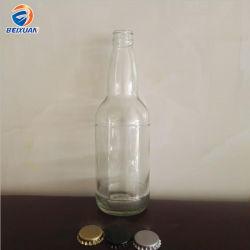 Bottiglie di vetro inferiori del vino della birra della radura di figura rotonda di alta qualità 500ml a strati con le protezioni variopinte