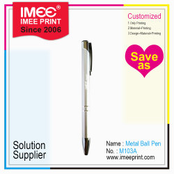 Grabado de la impresión de logotipo personalizado Imee Negocio Regalo Promocional haga clic en Bolígrafo de Metal Plástico