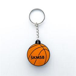 رياضة كرة سلّة [بكّ] ملصق سلسلة المفتاح مرنة مطاط كرة قدم منزل هبة