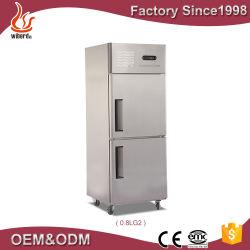 Matériel de cuisine à la verticale 590L demi réfrigérateur et congélateur de porte pour conserver fraîche