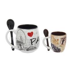 Commerce de gros de haute qualité Logo de thé de café tasse tasse en céramique du ventre