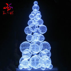 20FT 30FT 40FT 50FTのクリスマスの装飾のLEDライト店が付いている巨大なLEDの巨大な人工的な実質のクリスマスツリーをハングさせる大きい金属フレーム