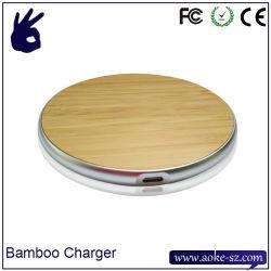 Slim portable smartphone du chargeur sans fil Bamboo nouveau tampon de chargement