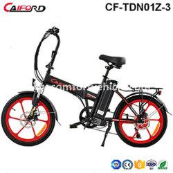 6061 ciclomotore elettrico Sepeda Listrik della mini 500W 48V piccola di piegatura della batteria di litio della lega di alluminio 36V E-Bici elettrica promozionale della bicicletta con la sede di comodità