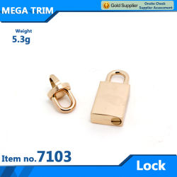 No 71033 de gros sac métallique de verrouillage de la lumière de l'or