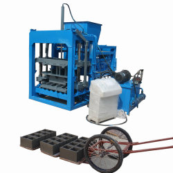 Qt4-28 빈 내부고정기 포장 기계를 만들기를 위한 반 자동적인 유압 시멘트 구획 조형기 또는 벽돌 플랜트