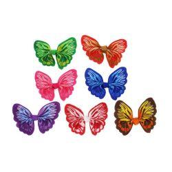 farfalla rossa/viola/verde dell'arco del nastro del Grosgrain di 6.5cm per i capelli Clip-Dy12002 del panno