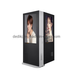 Dedi Touchscreen van 55 Duim Openlucht Tweezijdige LCD Digitale Signage
