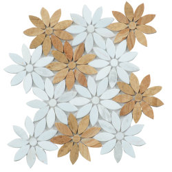 Fußboden-Wand-Badezimmer-Tisch-stolperte dekorative Mischungs-Farbe Marmormosaik-Fußboden-Muster-Fliese