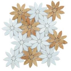 Pavimento Parete Bagno Tavolo Decorativo Mix Colore Tumbled Marmo Mosaico