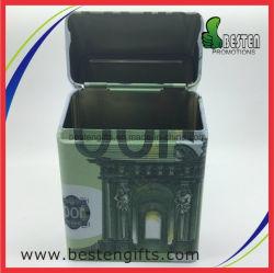 Caixa de charutos de metal tampa do cigarro Pack de cigarro na caixa de estanho