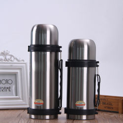 Paredes duplas de viagens em aço inoxidável Pot Sport Pot panela de água