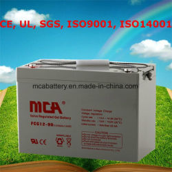 La máxima calidad de almacenamiento de 12V 90Ah gel de plomo ácido de batería solar