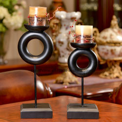 Mestiere conciso elegante del supporto di candela dell'indicatore luminoso del tè nero di stile