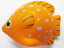 PU-Schaumgummi-Spielzeug-tropische Fisch-orange Farben-fördernde Druck-Kugeln