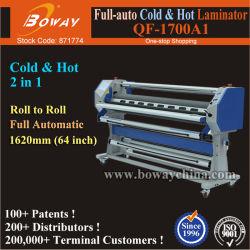 Totalmente automático de gran formato ancho 64 pulgadas de 1620mm Commercial frío y caliente laminadora rollos de película