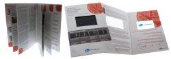 Multipage 5.0 pulgadas LCD Video en Tarjeta de felicitación de vídeo/impresión/Video Folleto