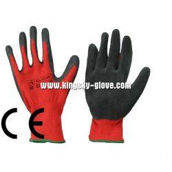 13G doublure en polyester rouge des gants de latex Anticorte industrielle-5239 de feux de croisement