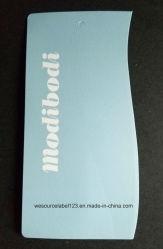 Die Cut Carte imprimée de forme variable pour les vêtements