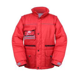 Tissu de polyester élégant Mens Parka / veste matelassée/enduire