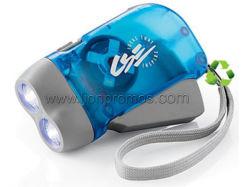 Kundenspezifische Fackel des Firmenzeichen-Drucken-Handdynamo-Generator-LED