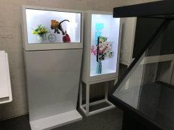 Yashi LCD transparentes de verificación Publicidad Smart Media Player