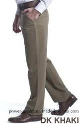 Хлопок Non-Iron Top-Quality мужчин в непринужденной обстановке брюки женские брюки без замятий
