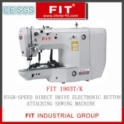 Acionamento Direto Botão eletrônico fixar a máquina de costura