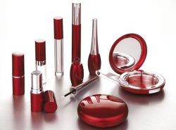 eine Reihe Kosmetik-Verpacken: Lippenstift-Kasten/Lipgloss/Eyeliner-/Wimperntusche-Behälter/kompakter Fall