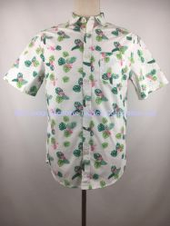 Feiertags-Kurzschluss-Hülse Hemd-Flamingo der Männer, hawaiisches Hemd, Mann-Hemd