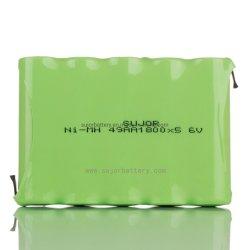 Bateria NiMH AA 6V1800mAh com marcação CE/Alcance/RoHS aprovado