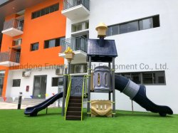 TUV/ASTMの東南アジアの子供の普及した様式のための中国の製造者の学童のおもちゃの屋外の運動場のプラスチックによって結合されるスライド