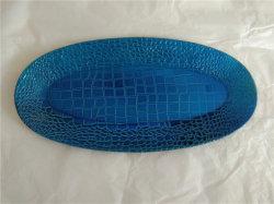 楕円形の形のカスタマイズされた印刷を用いる昇進のギフトのためのプラスチック食糧サービングの皿