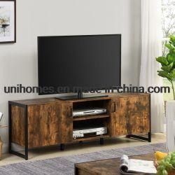 工場はブラウンとの2つのドアの記憶か居間の家具のための黒い現代TVの立場を指示する