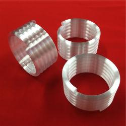 Résistance thermique de haute pureté personnalisé opaque blanc laiteux spirale du tube de verre de quartz