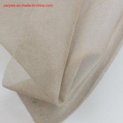 100% nylon 15D Verzilverde Tricot Tulle-stof stralingsbescherming Materiaal voor muggennet