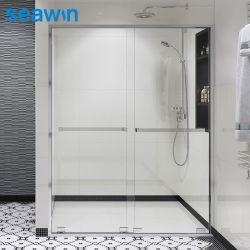 アルミニウムフレームバスシャワースクリーンはバスルームにガラスのシャワードアをバイパスする シャワーエンクロージャ