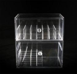 引出しおよび分割のカスタマイズされた透過アクリルの化粧箱ボックス