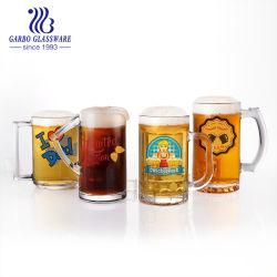 16oz canecas de cerveja de vidro com pega, Conjunto de 4 Vidro de entretenimento divertido Base pesada das bebidas taças de vinho, água, suco e Bar decoração jantar (GB093516N)