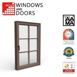 SD114-Toldonuevo salto térmico de aluminio/aluminio toldo/Casement/Título deslizante-24 aprobado con 4'' el limitador de seguridad de la ventana con Aama/Certificación de Nfrc