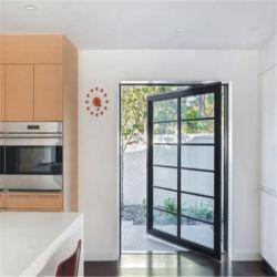 Nouveau système de conception commerciale moderne de plancher de verre aluminium printemps bureau entrée de pivot de porte avant principale
