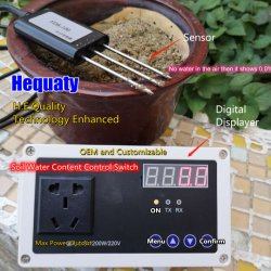 스마트 가든 관수 펌프 컨트롤 최대 2200W 스위치(토양 수분 센서 포함), 110V 또는 220V 및 전원 플러그 유형에 맞게 맞춤 구성