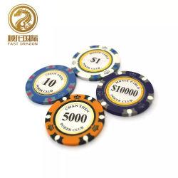 Patrón de la corona de 14G arcilla fichas de póquer de Casino De Juego Juego (DRA-GB1021)