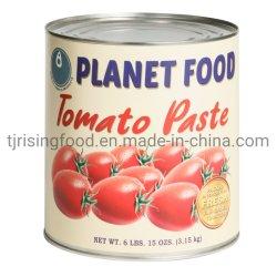 Aangepaste OEM Merk Populair Planet Food Premium kwaliteit 3.15 kg Tomatenpasta in blik 15 ozs 6 lbs
