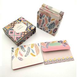 금박지 주문 인쇄 봉투를 가진 모든 경우 노트 카드 상자에 넣어진 세트