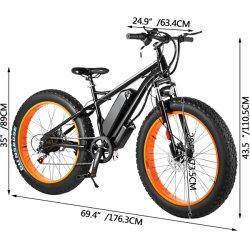 Fat vélo/VTT électrique/ E-MTB avec batterie au lithium amovible