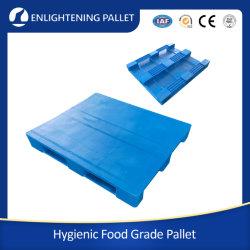 OEM для тяжелого режима работы склада в стойку для хранения стальные усиленные твердых/плоские четыре пути вступления гигиенических Food Grade прочного HDPE промышленных Euro пластиковые поддоны для установки в стойку